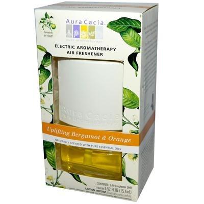 Orange Bergamot Air Freshener (Aura Cacia EleCenteric Aromatherapy Air Freshener Uplifting Bergamot and Orange - 0.47 fl oz -)
