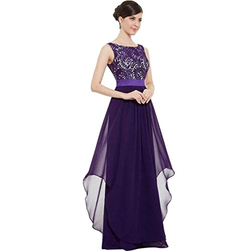 Colonial Eyelet (Women Dress, Limsea Long Chiffon Lace Evening Formal Party Ball Gown Prom Bridesmaid Dress)