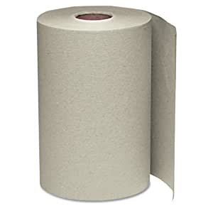 Windsoft 108 Nonperforated Paper Towel Roll, 8 x 350', Natural (Case of 12)