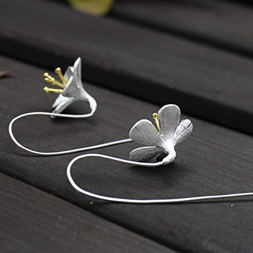 Fashion Female Flower Women Lady Long Earrings Elegant Daisy Flowers Tassels
