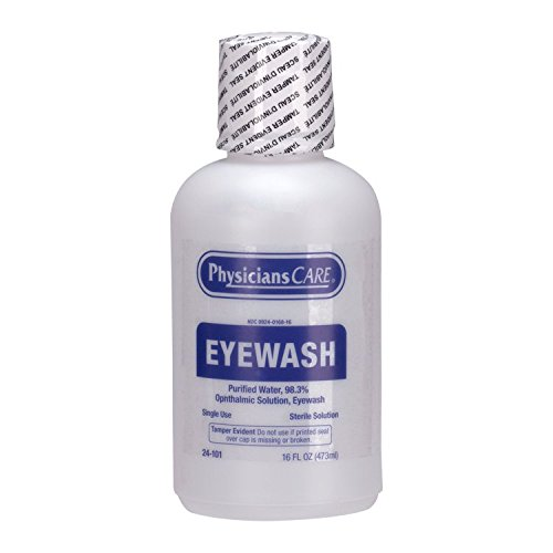 Emergency Flush - PhysiciansCare by First Aid Only 24-101 Eye Flush Solution, 16 oz Bottle