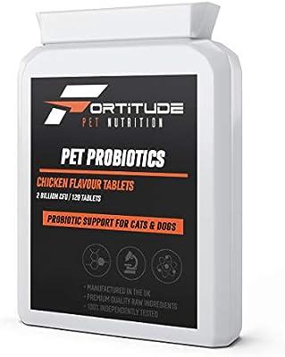 Pet Probiotics para Perros y Gatos | Suplemento probiótico con enzimas digestivas para Mascotas | 120 tabletas con Sabor a Pollo: Amazon.es: Productos para mascotas