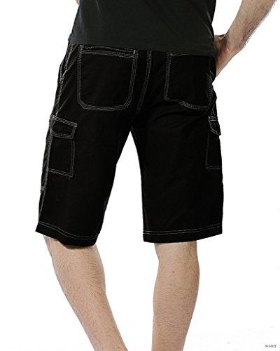 Kingsfun - Pantalón corto - para hombre negro