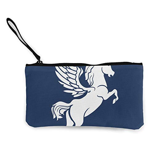 Architd Customized Pegasus Silhouette Blue Background Canvas Zipper Purse, Personalized Lady's Make-up Bag, Handbag, - Ice Friendly Earth Products