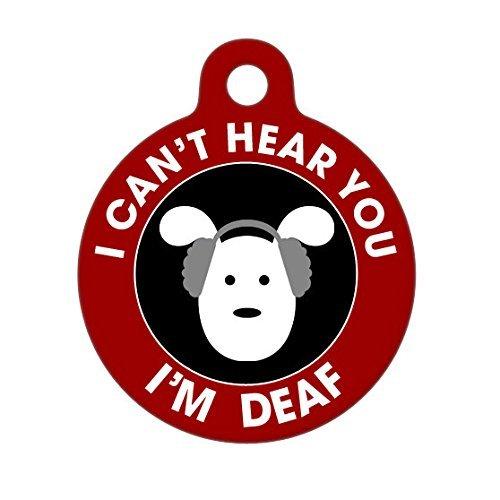 Deaf Medical Pet Tag - Dog Medical Alert Pet Tag, Child Pet Tag, Dog Tag, Gift for (Set Stamp Caddy)