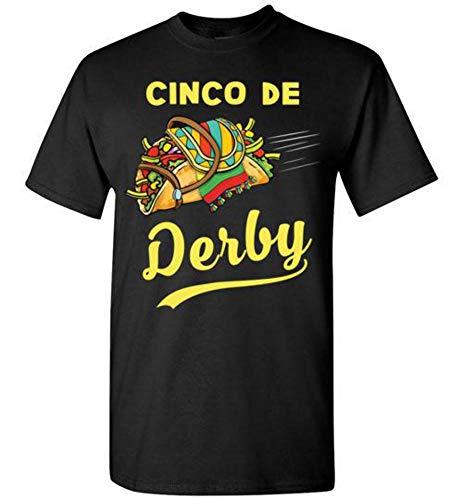 Cinco de Mayo Derby Mexian Kentucky Horse Race Tshirt Black ()