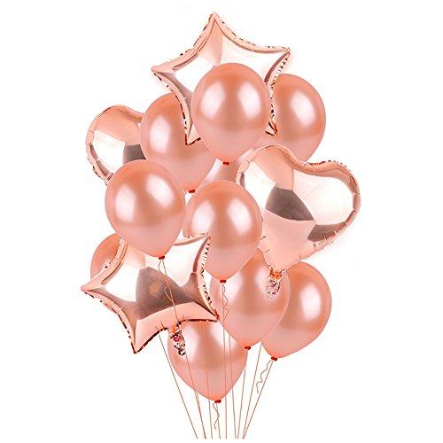 풍선 벌룬(balloon) 기구 생일 장식 세트 foil 벌룬(balloon) 스타 벌룬(balloon) 하트 벌룬(balloon) 라텍스 풍선 생일 파티,결혼식,파티 데코레이션용(14개 들이) 파티 행사용품