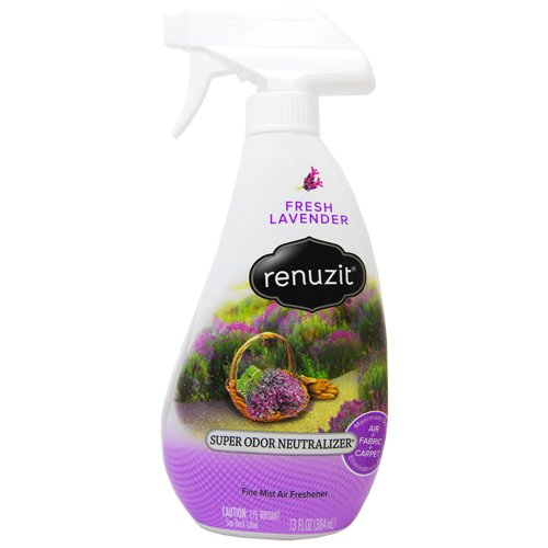 Renuzit Super Odor Neutralizer Spray, Fresh Lavender, 13 oz Spray - Neutralizer 13 Ounce Odor