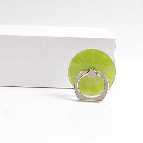 Cewaal Soporte del teléfono celular, soporte colorido del soporte del descenso del descenso del anillo de dedo de la fruta colorida para el iPhone Samsung Samsung LG Tablet Green Lemon