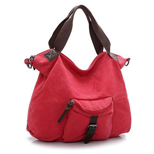 et de Sacs coloré Rouge Rouge de Coton Lin ZHRUI Main en Toile à f8nAqqv0