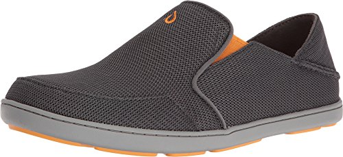 OLUKAI Men's Nohea Mesh Slip-On Shoes, Dark Shadow/Dark Shadow, 11 M US (Big Bear Sporting Goods)