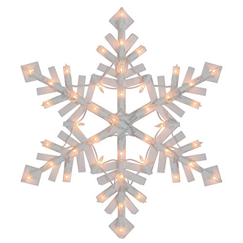 Northlight Lighted Snowflake Christmas Window Silhouette - 15.5 Inch