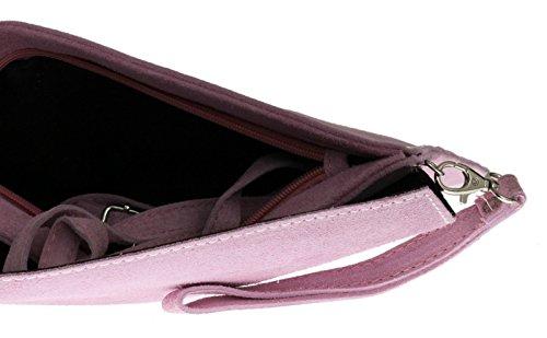 Elegant Fashions - Cartera de mano para mujer rosa claro