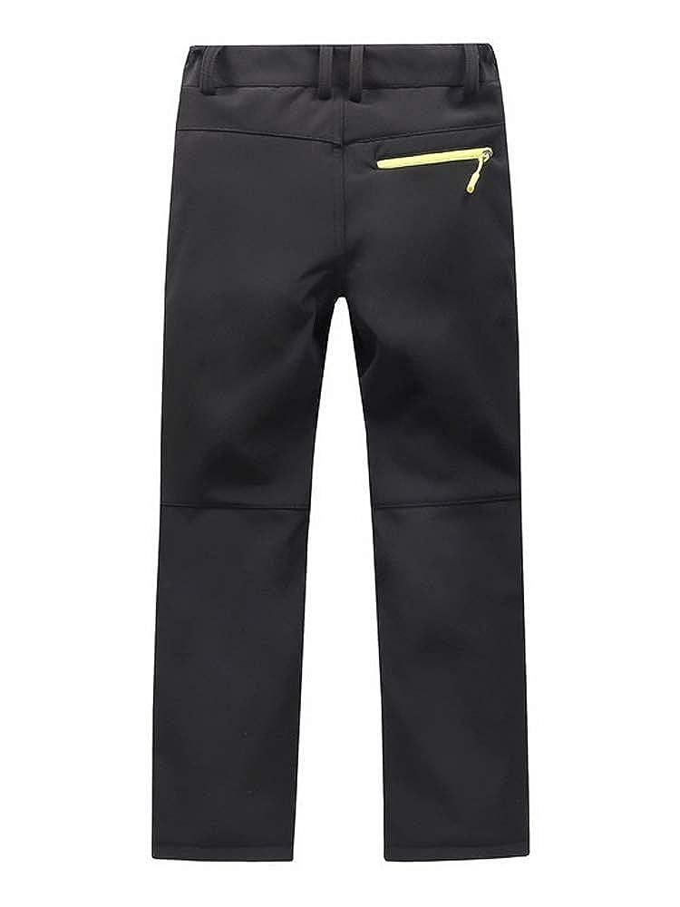 Phorecys Boys Girls Fleece-Lined Waterproof Snow Pants Ski Outdoor Hiking Trousers