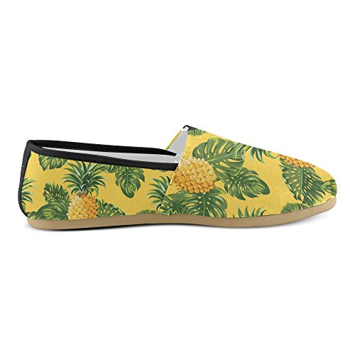 Womens and Flats on Canvas Classic Loafers Slip Sneakers Pineapples Shoes Fashion Leave D Story Tropical tqFX8a8
