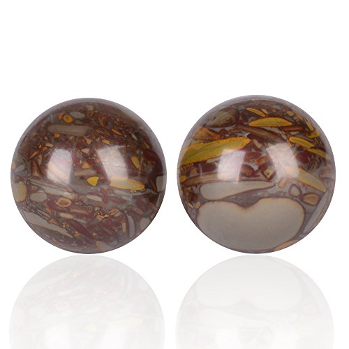 gent house nuwa stone contrast color baoding citrine chinese health stress exercise balls