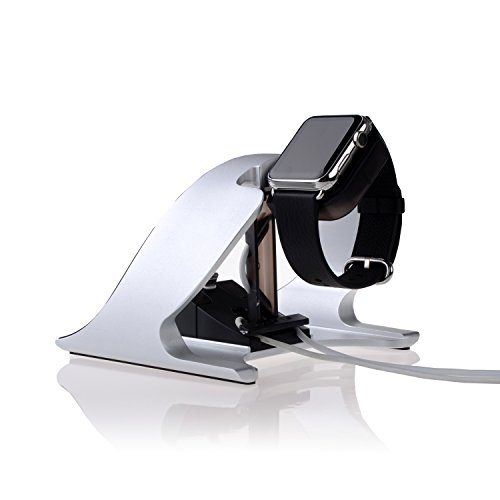 Thankscase-Rotating-Aluminium-Stand-for-Apple-WatchiPhone-7-and-iPhone-6iPad-Air-and-iPad-MiniApple-Watch-Rotating-StandWatchSilver