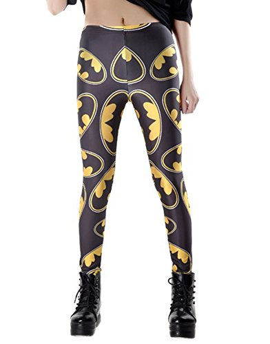 Benibos Women's New Fashion Leggings with Variaty Printing, OS, (Batman),