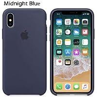 Capinha Case iPhone XS Max Silicone Logo Diversas Cores (Azul)