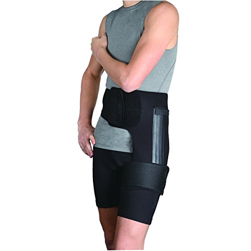 Orthomen Hip Orthosis, Adjustable Leg Compression Wrap Sleeve (M-Right)