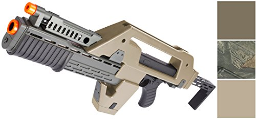 Evike Matrix Fully Functional Airsoft Alien Pulse Rifle - Tan - (44657) (Pulse Rifle Airsoft)