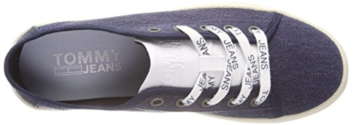 Scarpe Basse Light Donna Tommy Black Jeans Iris Denim Blu da Hilfiger Ginnastica Low 431 Textile KYq1Hvcy