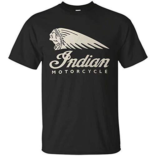 Vilianady Funny Mens Indian Motorcycle Generic T-Shirt Men Women yuoth Gift Tee Black