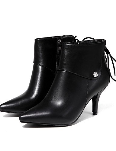 Uk6 Uk8 Cn43 Vestido Beige Negro Black Semicuero Tacón Stiletto Puntiagudos Moda Eu39 us8 us10 Black La De 5 Xzz 5 A Cn40 Casual Eu42 5 Botas Zapatos 5 Mujer q1OFH