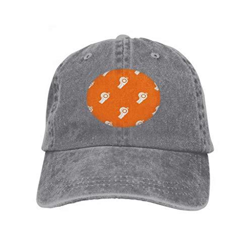 Unisex Summer Fashion Cotton Baseball Cap Adjustable Trucker Hats Sport Whistle Pattern Sport Whistle Pattern Repeat Orange co Gray -