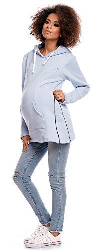 Zeta Ville - Sudadera de lactancia apertura de cremallera - para mujer - 356c Azul Claro