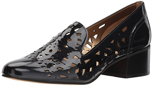 Patent Flat (Anne Klein Women's Judeena Patent Loafer, Navy Patent, 7 M US)
