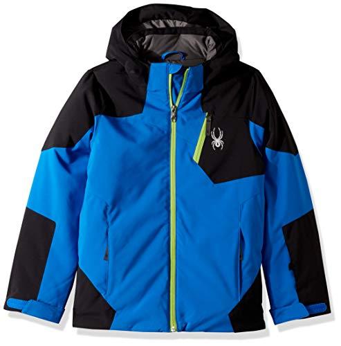 Spyder Boys' Chambers Ski Jacket, Turkish Sea/Black/Fresh, Size 18