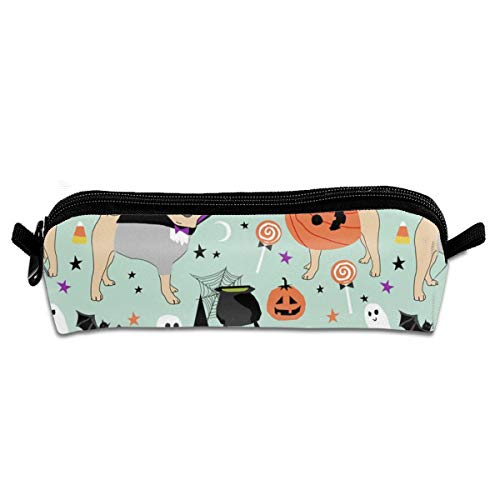 (Pug Halloween Costume - Cute Dogs in Costumes Pencil Bag Pencil Case Pen Zipper Bag Pouch Holder Makeup Brush Bag for School Work Office 8.26 X 2.16 X 1.96)
