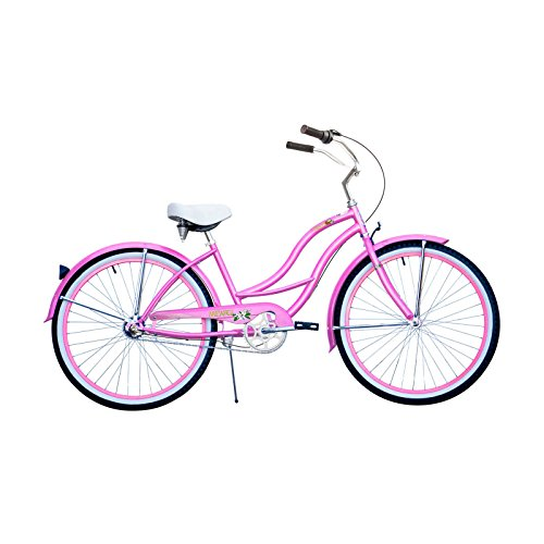 Micargi TAHITI NX3-F Beach Cruiser Bicycles (Frame/Wheel Size : 26″), Pink