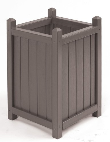Cal Design WOOD200-CS-A Tall Outdoor Crown Planter, Smoke by Cal Design