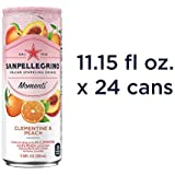 Sanpellegrino Momenti Clementine & Peach Cans, 24 Count