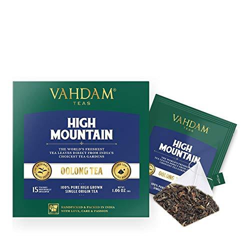 VAHDAM, Himalayan Oolong Tea Bags (30 Count) - 100% Natural Detox Tea, Oolong Tea Loose Leaf Pyramid Tea Bags, Brew Hot, Iced or Kombucha Tea