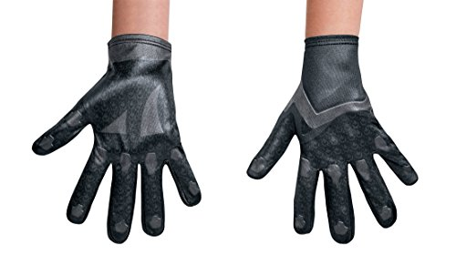 Child Black Ranger Gloves - Black Power Ranger Movie Child Gloves, One Size