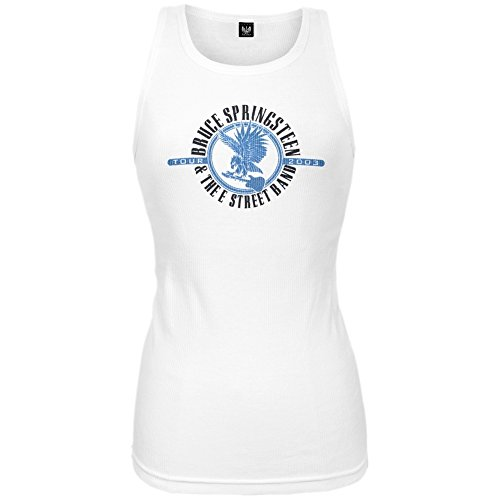 Bruce Springsteen - Womens Eagle Juniors Tank Top 2x-large White