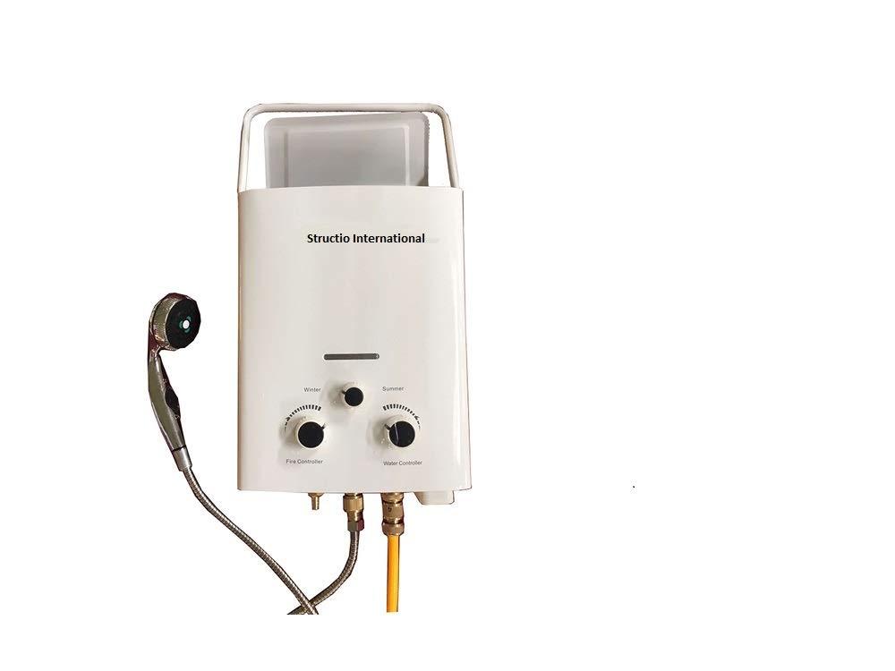 Calentador de agua, caldera de gas, portátil para ducha de camping, 6 litros: Amazon.es: Bricolaje y herramientas