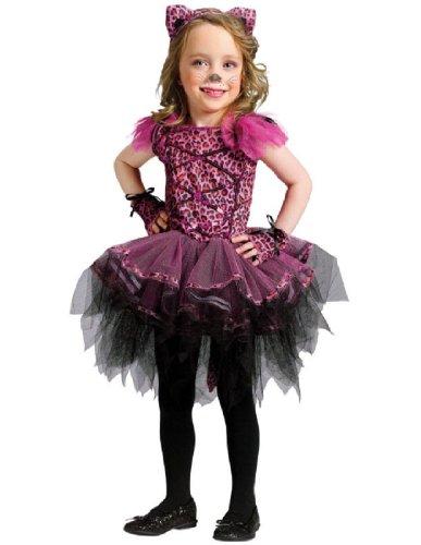 Ballerina Leopard Toddler Costume - Toddler Small (Cute Leopard Halloween Makeup)