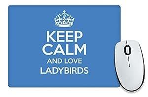 Azul KEEP CALM AND LOVE mariquitas alfombrilla de ratón color 2020