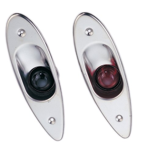 Pactrade Marine Boat Navigational Side Bow Tear Drop Lights Stainless Steel Flush Mount by Pactrade Marine