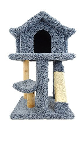 - New Cat Condos Premier Mini Cat Pagoda House, Blue