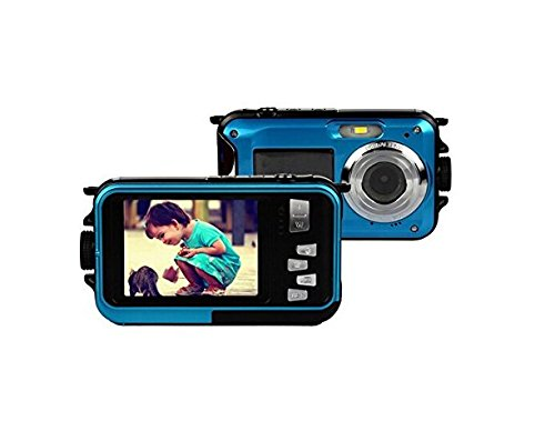 Emperor of Gadgets Double Screen Selfie Feature Waterproof 16x Zoom HD Digital Camera - Perfect Travel Vacation Photo Video Camera by Emperor of Gadgets