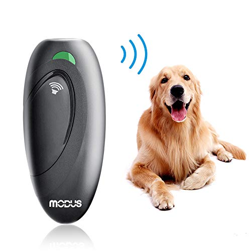 Modus Ultrasonic Bark Control Device, Anti Barking Device Dog Training Aid 2 in 1 Control Range of 16.4 Ft
