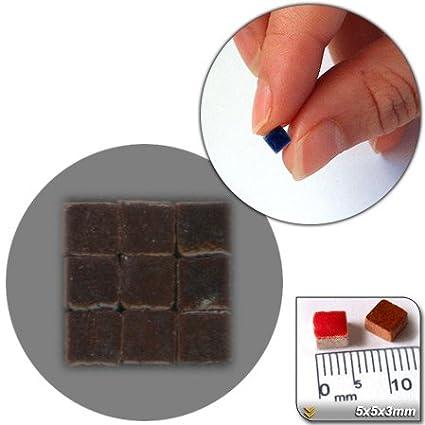 mosaico de Minis (5 x 5 x 3 mm), 500 unidades), color marrón, RC01 ...