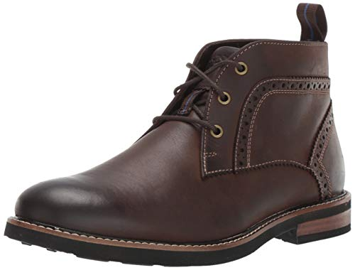 Nunn Bush Men's Ozark Plain Toe Chukka Boot with KORE Comfort Technology Brown Crazy Horse, 13 Wide (Comfortable Walking Boots)