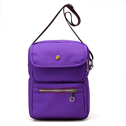 JOSEKO Crossbody Bag for Women, Multi-Pocketed Nylon Travel Passport Bag Shoulder Bags Cell Phone Purse/Wallet Messenger Bags