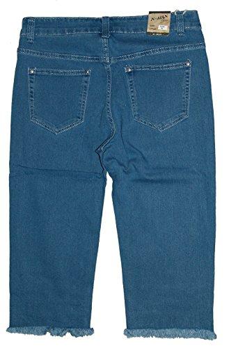 Fransen 870 X Jeans Capri mit max Pantalone Blau Donna 1Rgq180